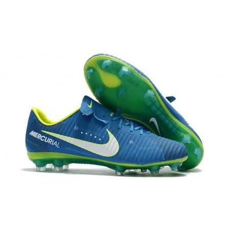 Neymar Nike Mercurial Vapor 11 FG Football Shoes - Blue White