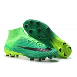 Nike Mercurial Superfly 5 FG 2017 New Firm Ground Boot - Green Black