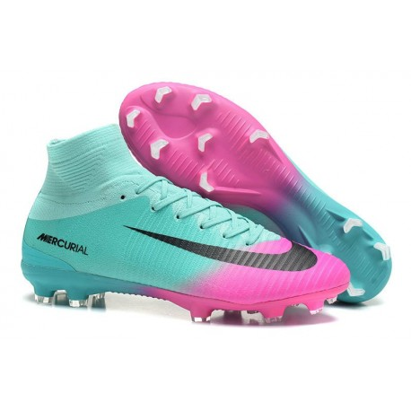 5c2be498a Nike Mercurial Superfly V FG Mens Soccer Cleat - Blue Pink