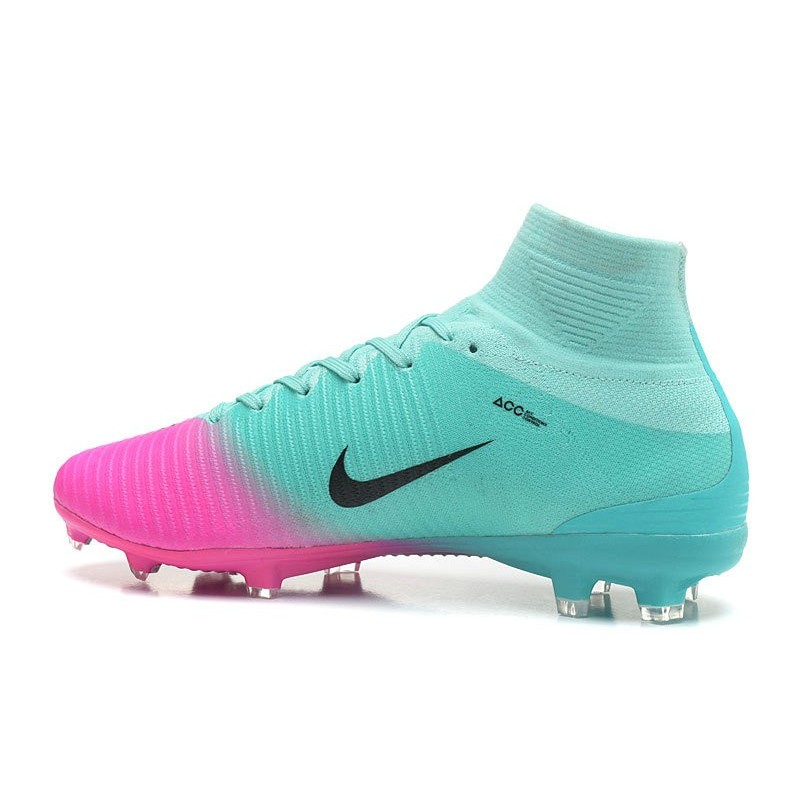 Nike Mercurial Superfly V FG Mens Soccer Cleat - Blue Pink Maximize.  Previous. Next