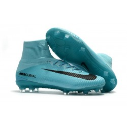 Nike Mercurial Superfly V FG Mens Soccer Cleat - Blue Black