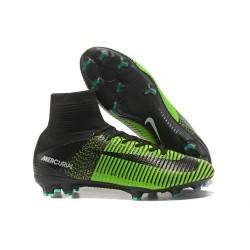 Nike Mercurial Superfly V FG Mens Soccer Cleat - Green Black