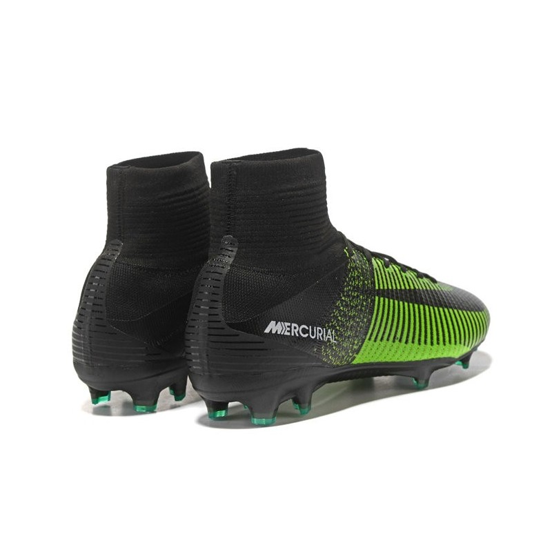Nike Mercurial Superfly V Fg Mens Soccer Cleat Green Black