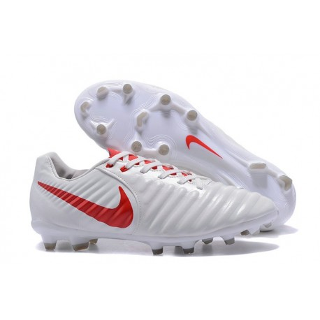 5d5470afe6d6 Nike Tiempo Legend VII FG K-Leather Soccer Cleats White Red