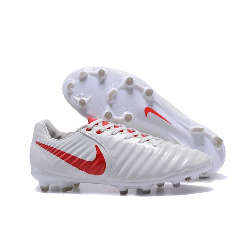 info for 4c5a5 2df6d Nike Tiempo Legend VII FG K-Leather Soccer Cleats White Red