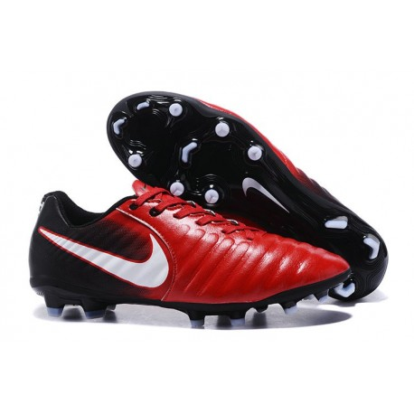 Nike Tiempo Legend VII FG K-Leather Soccer Cleats in Red