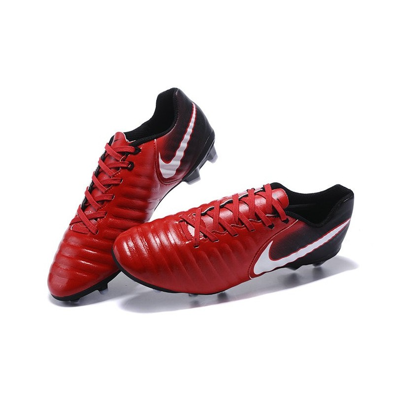 Nike Tiempo Legend Vii Fg K Leather Soccer Cleats In Red