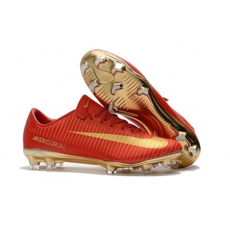 Mens Nike Mercurial Vapor 11 FG Football Shoes - Red Gold
