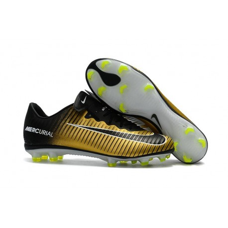 Mens Nike Mercurial Vapor 11 FG Football Shoes - Yellow Black White