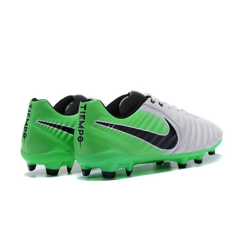 Nike Tiempo Legend VII FG K-Leather Soccer Cleats Green White Maximize.  Previous. Next 33a855d37