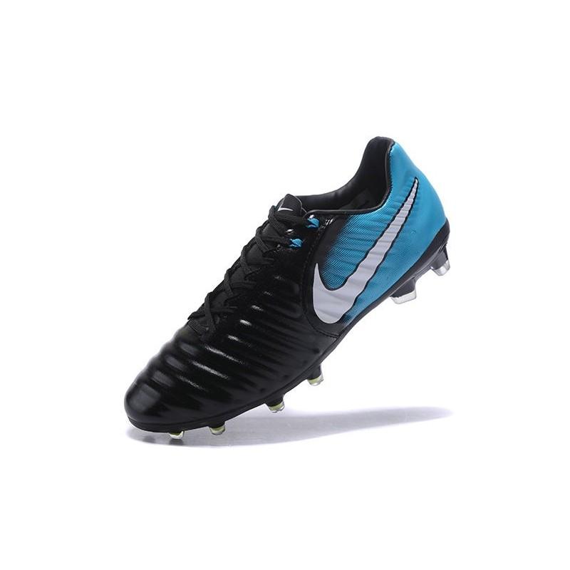 nike news tiempo legend 7 fg men football boot black blue. Black Bedroom Furniture Sets. Home Design Ideas
