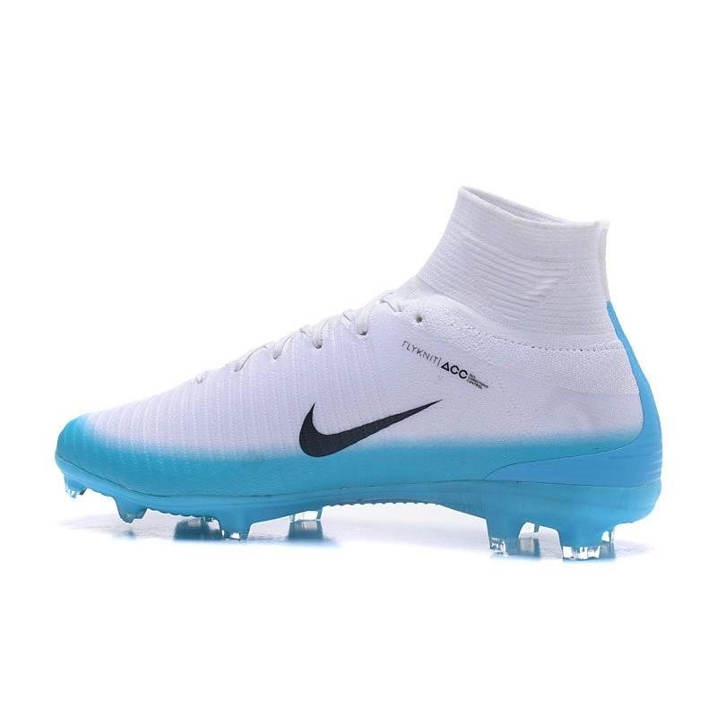 da9af7e52aedb9 Nike Mercurial Superfly V FG Mens Soccer Cleat - White Blue Black Maximize.  Previous. Next