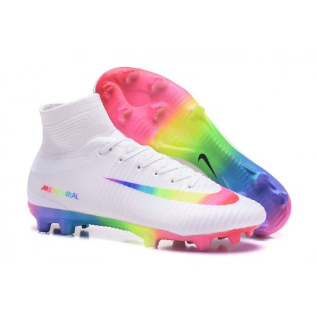 separation shoes d1afc 16507 Nike Men Mercurial Superfly 5 FG ACC Boots White Rainbow