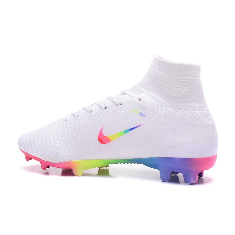separation shoes 58917 0a9d6 Nike Men Mercurial Superfly 5 FG ACC Boots White Rainbow
