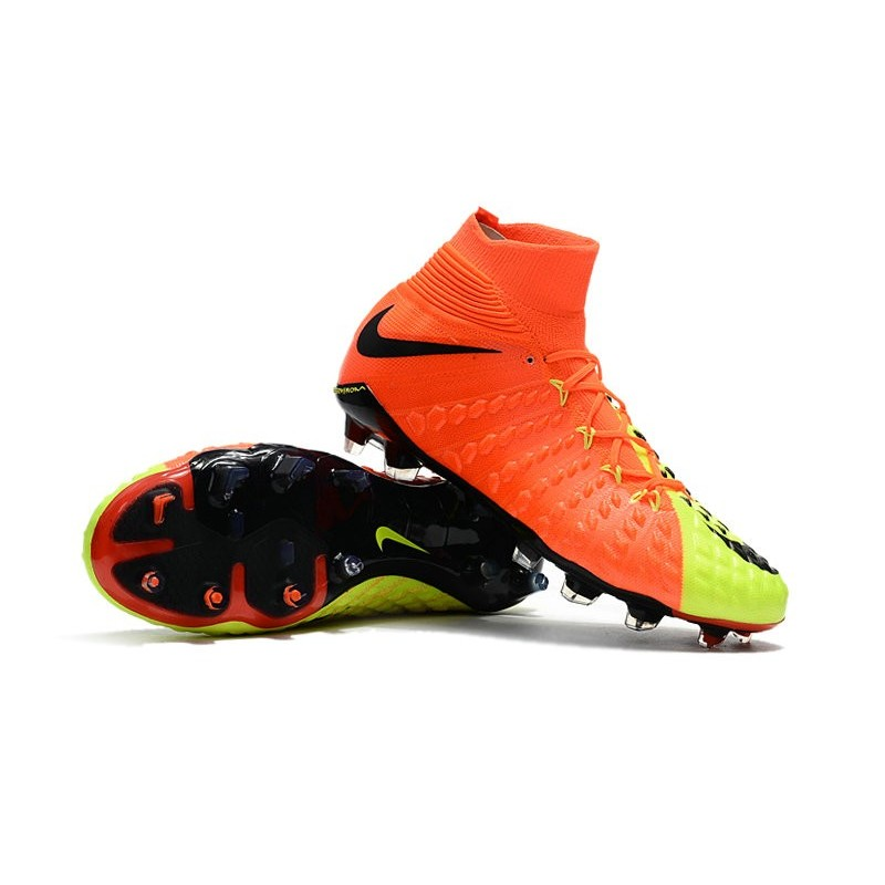 ddfb84a5b New Flyknit Nike Hypervenom Phantom 3 DF FG Soccer Boot - Orange Yellow  Maximize. Previous. Next