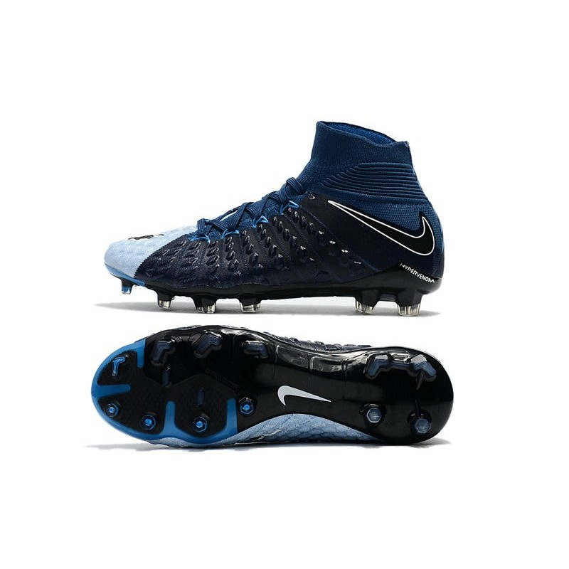 3b86dfbeb69 New Flyknit Nike Hypervenom Phantom 3 DF FG Soccer Boot - Black White  Maximize. Previous. Next