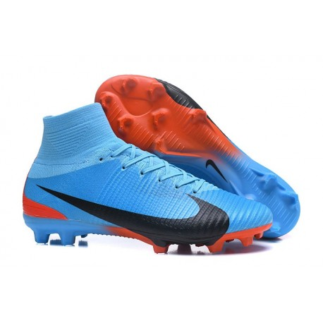 b7c1a4a17 Nike Men Mercurial Superfly 5 FG ACC Boots Blue Black Red