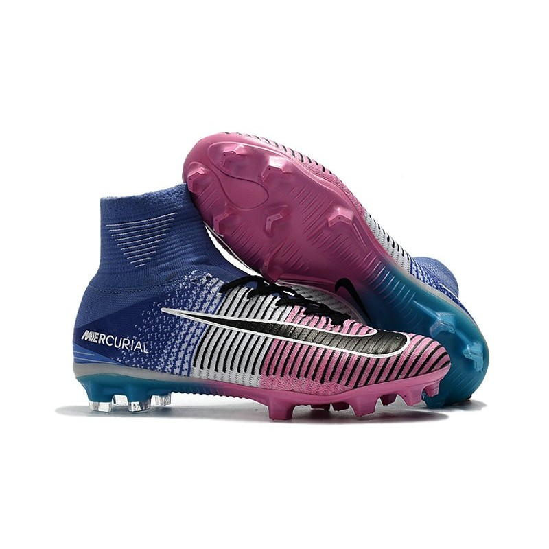 Nike Men Mercurial Superfly 5 Fg Acc Boots Blue Pink Black