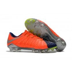 Nike Hypervenom Phantom 3 FG Low Cut Soccer Cleat Orange Cyan Silver