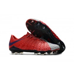 Nike Hypervenom Phantom 3 FG Low Cut Soccer Cleat Red Grey Black