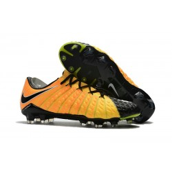 Nike Hypervenom Phantom 3 FG Low Cut Soccer Cleat Yellow Black Silver