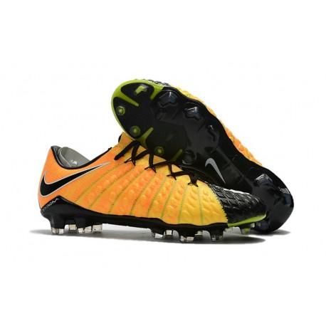 5b0d2f673e8 Nike Hypervenom Phantom 3 FG Low Cut Soccer Cleat Yellow Black Silver