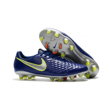 New 2017 Nike Magista Opus II FG ACC Soccer Boots Deep Blue Silver