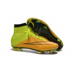 Nike Mercurial Superfly FG CR7 Ronaldo Football Boot Leather Yellow Volt