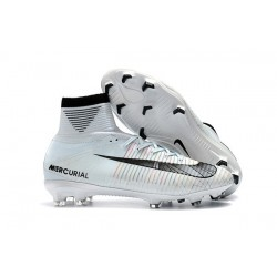 Nike Mercurial Superfly V DF FG Cleat - White Blue Tint