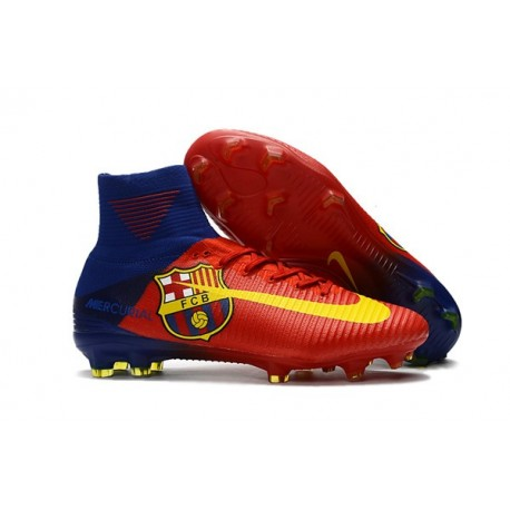100de5810 Nike Mercurial Superfly V DF FG Cleat - Barcelona Red