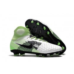 Nike Magista Obra 2 FG Firm Ground Football Cleats White Black Green