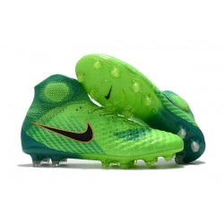 Nike Magista Obra 2 FG Firm Ground Football Cleats Green Black