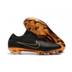 Nike Mercurial Vapor Flyknit Ultra FG ACC Soccer Cleat - Black Gold