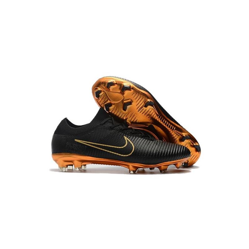 f6e8667f2392 Nike Mercurial Vapor Flyknit Ultra FG ACC Soccer Cleat - Black Gold Maximize.  Previous. Next