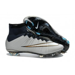 Nike Mercurial Superfly FG CR7 Ronaldo Football Boot Metallic Silver White