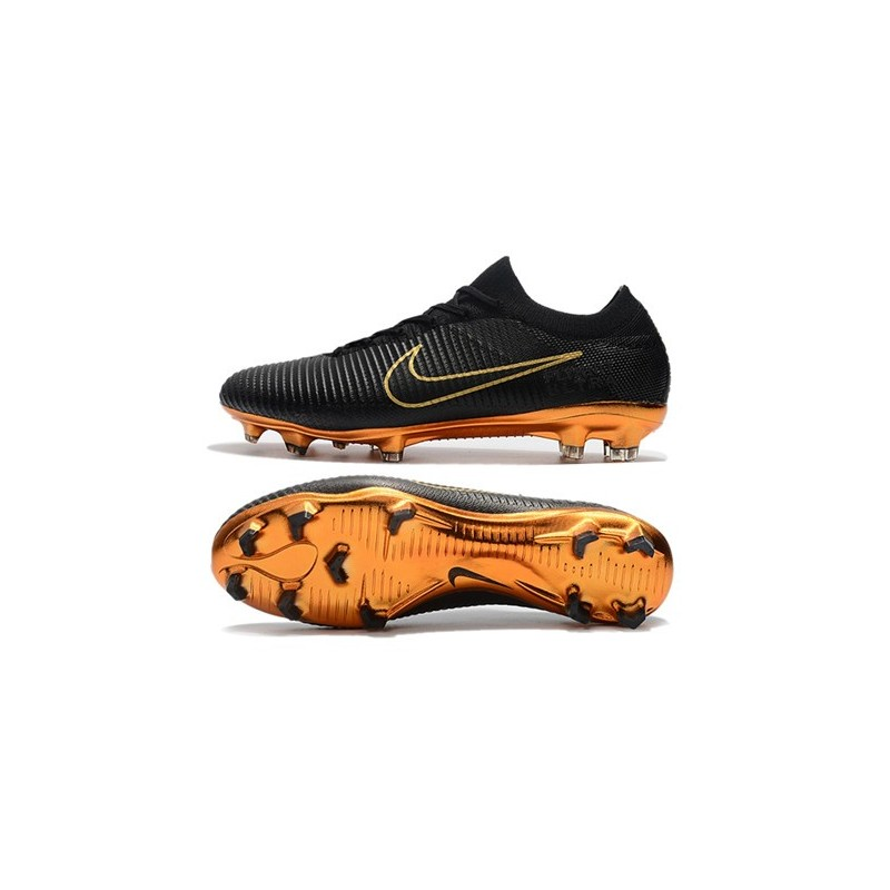 edd1b77fe42f Nike Mercurial Vapor Flyknit Ultra FG ACC Soccer Cleat - Black Gold  Maximize. Previous. Next