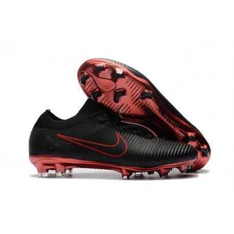 Nike Mercurial Vapor Flyknit Ultra FG ACC Soccer Cleat - Black Red