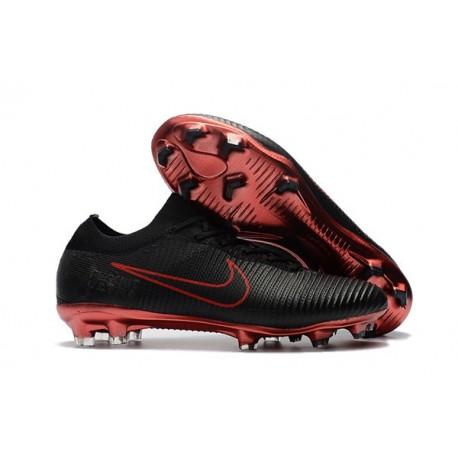 Nike Mercurial Vapor Flyknit Ultra FG ACC Soccer Cleat - Black Red