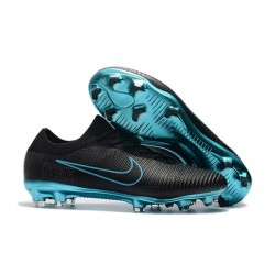 Nike Mercurial Vapor Flyknit Ultra FG ACC Soccer Cleat - Black Blue