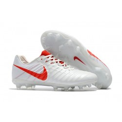 Nike News Tiempo Legend 7 FG Men Football Boot - White Red