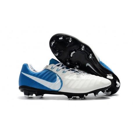 Nike News Tiempo Legend 7 FG Men Football Boot - White Blue