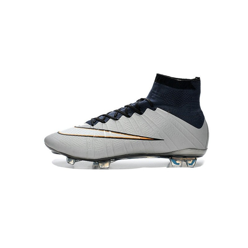 nike mercurial superfly fg cr7 ronaldo football boot metallic silver white