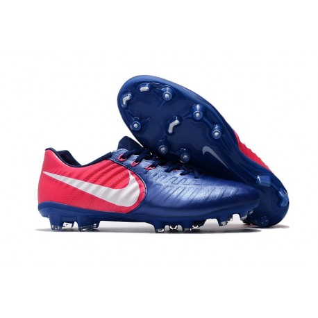Nike Tiempo Legend VII FG K-leather Soccer Cleats Blue Rose