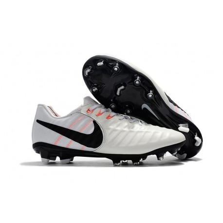 Nike Tiempo Legend VII FG K-leather Soccer Cleats White Black