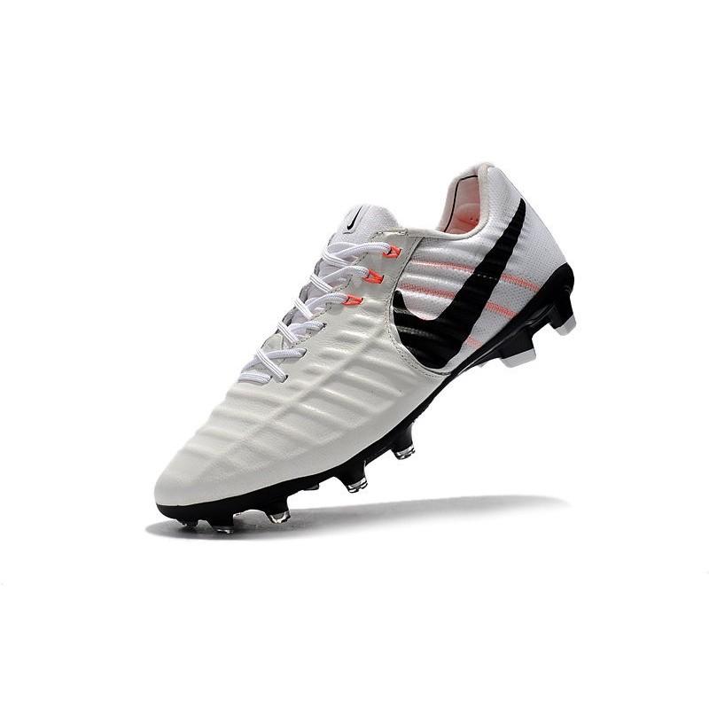 sports shoes 048e0 739b8 Nike Tiempo Legend VII FG K-leather Soccer Cleats White Black