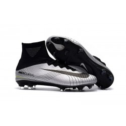 Nike Mercurial Superfly V DF FG Cleat - Silver Black