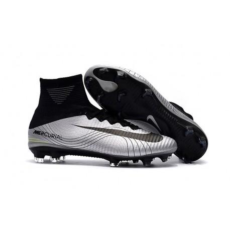 Nike Mercurial Superfly V DF FG Cleat - Silver Black