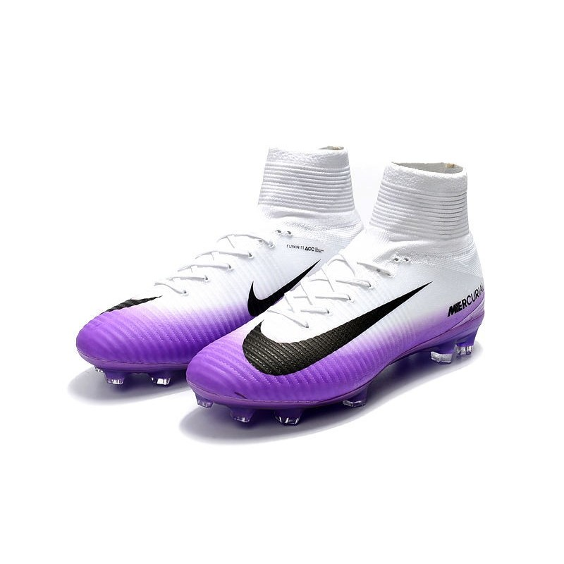 d23946231f8a4 Nike Mercurial Superfly V DF FG Cleat - White Purple Maximize. Previous.  Next