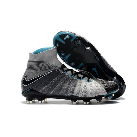 Nike Hypervenom Phantom III DF FG Cleats Grey Black