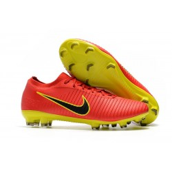 Nike Mercurial Vapor Flyknit Ultra FG ACC Soccer Cleat - Red Yellow